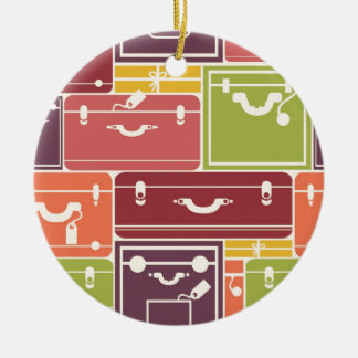 Luggage bags pattern christmas ornaments