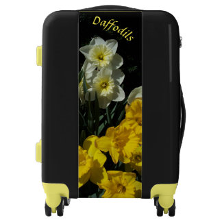 Luggage Daffodils YOUR NAME Lock Spin Wheels