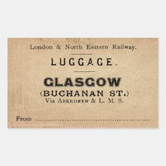 Luggage Glasgow Rectangular Sticker