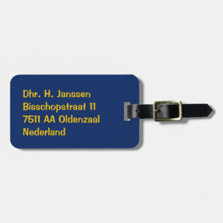 luggage label blue travel bag tags