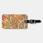 luggage label with paisley design bag tags
