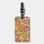 luggage label with paisley design tags for luggage