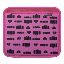 Luggage Pattern Black iPad Sleeve