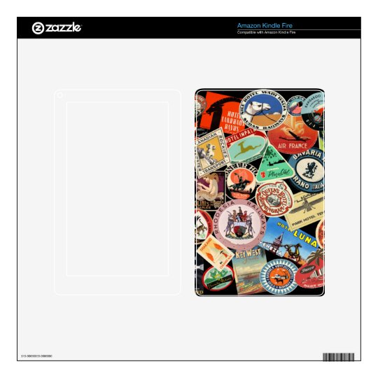 Luggage Sticker Skin Decal For Kindle Fire