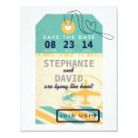 Luggage Tag Airmail Destination Wedding Save Date Card