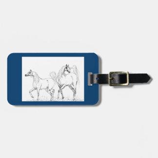 Luggage Tag - Arabian Horses