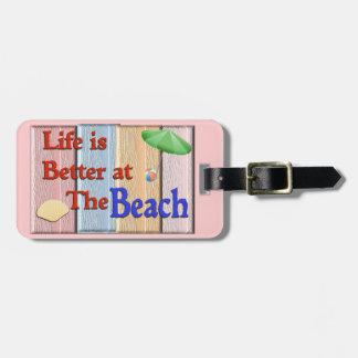 luggage tag - beach