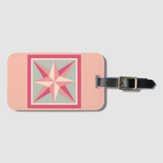 Luggage Tag - Beveled Star (pink)