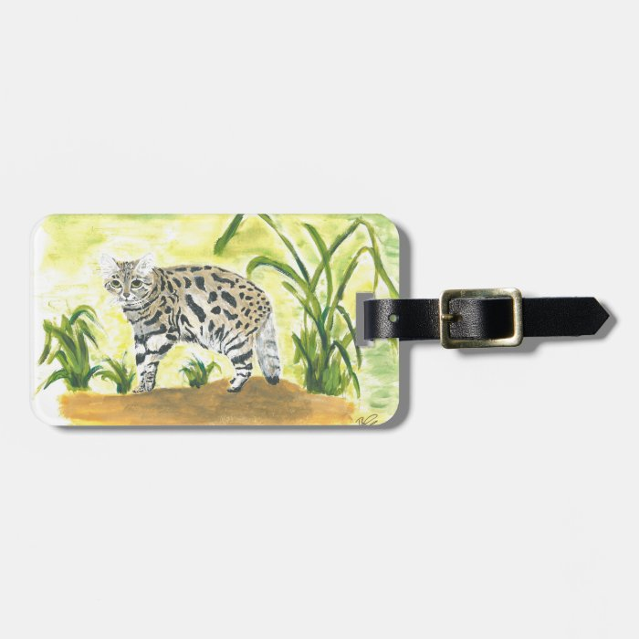 Luggage tag - black footed cat