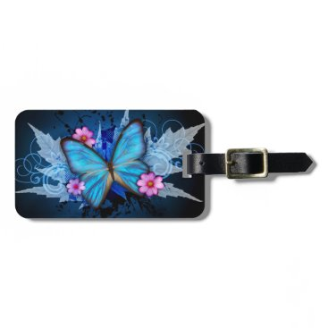 KarseDesigns Luggage Tag - Design: Blue Butterfly