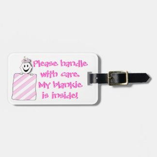 Luggage Tag; Diaper Bag Tag: Handle with Care Bag Tag