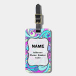 Luggage Tag Floral abstract background