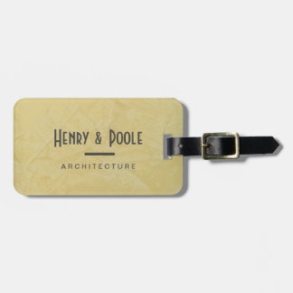 Luggage Tag For Architecture Firm