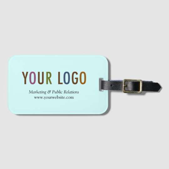 Luggage Tag For Business Card Custom Logo Branded Zazzle