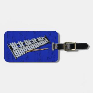 Luggage Tag - Glockenspiel Bells - Choose color Tag For Bags