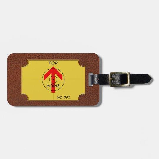 luggage tag - horiz - template