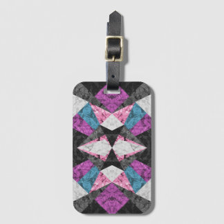 Luggage Tag Marble Geometric Background G438