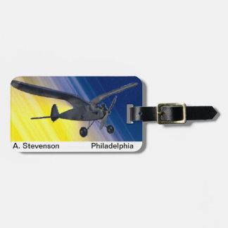 Luggage tag - model airplane