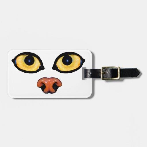 Luggage tag - pallas cat eyes