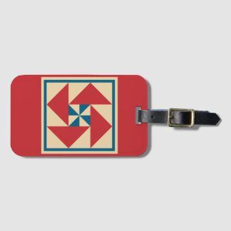 Luggage Tag - Patriotic Spin Quilt Block