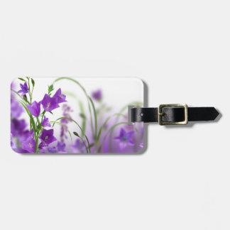 Luggage Tag--Purple Flowers Horizontal Bag Tag