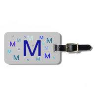 Luggage Tag - Repeated Monogram