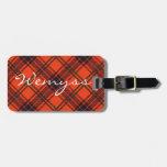 Luggage Tag Scottish tartan - Wemyss