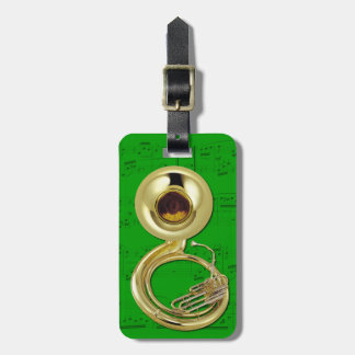 Luggage Tag - Sousaphone - Choose color Tags For Bags