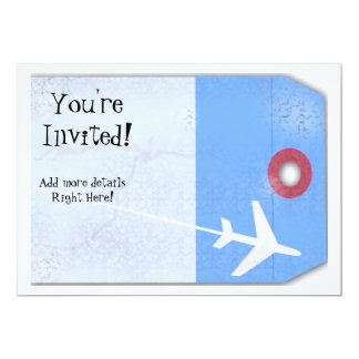 "Luggage Tag Style 5"" X 7"" Invitation Card"