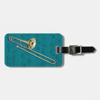 Luggage Tag - Trombone (tenor) - Choose color