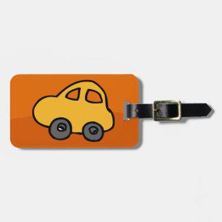 Luggage Tag w/ leather strap cute car