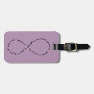 Luggage Tag w/ leather strap You and Me Infinity