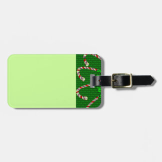 Luggage Tag with Candy Cane Weave