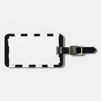 Luggage Tag with Checkered Border and Design