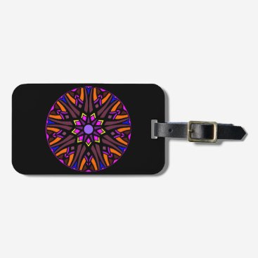 Professional Business Luggage Tag with colorful mandala