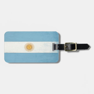 Luggage Tag with Cool Flag from Argentina