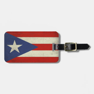 Luggage Tag with Cool Flag from Puerto Rico