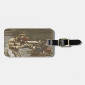 Luggage Tag with Cool Vintage Boxing Print