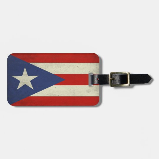 Luggage Tag with Dirty Flag from Puerto Rico