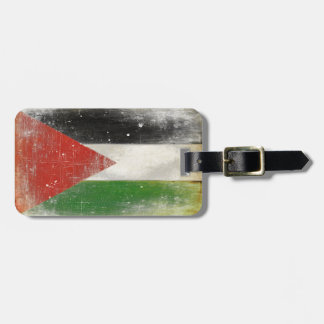 Luggage Tag with Distressed Flag from Palestine