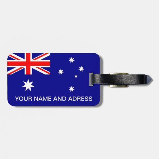 Luggage Tag with Flag of Australia