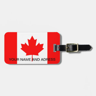 Luggage Tag with Flag of Canada
