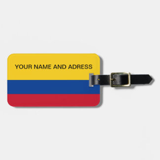 Luggage Tag with Flag of Colombia