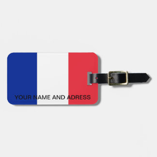 Luggage Tag with Flag of France