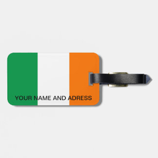 Luggage Tag with Flag of Ireland