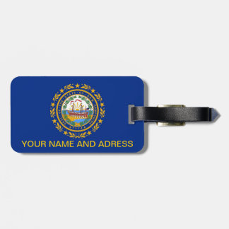 Luggage Tag with Flag of New Hampshire, USA