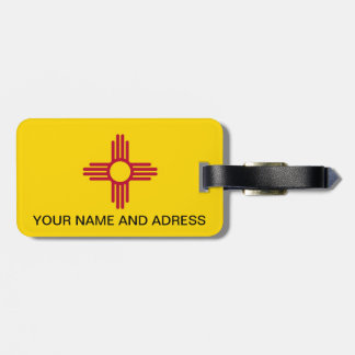 Luggage Tag with Flag of New Mexico, USA