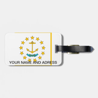Luggage Tag with Flag of Rhode Island, USA
