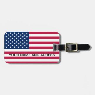 Luggage Tag with Flag of USA