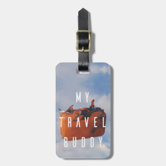 Luggage Tag With Leather Strap